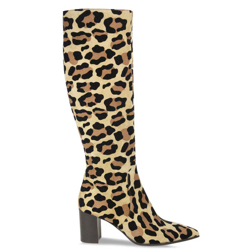 Leopard Long Knee High Boot