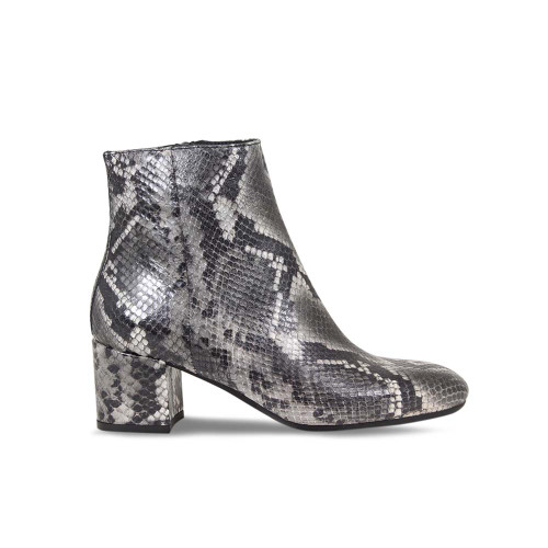 Stylish Grey Python Ankle Boot