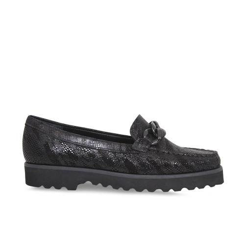 Black Zebra Platform Loafer