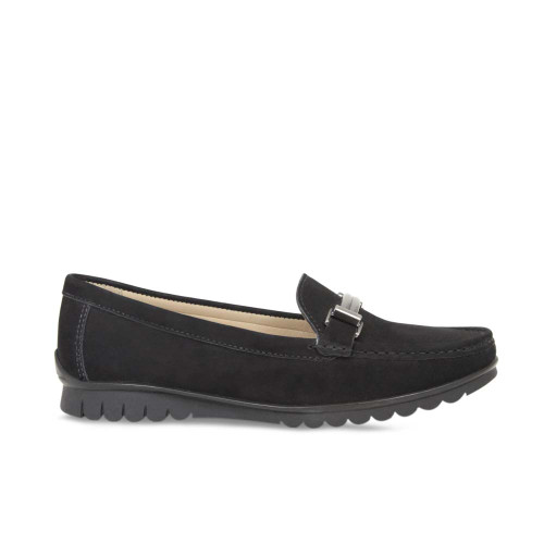 Black Nubuck Classic Loafers