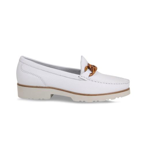 Tasha: White Leather