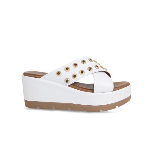 Dani: White Leather