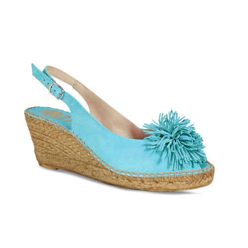 Emmy-Lou: Turquoise Suede