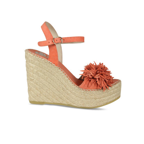 Lindy-Lou: Coral Suede