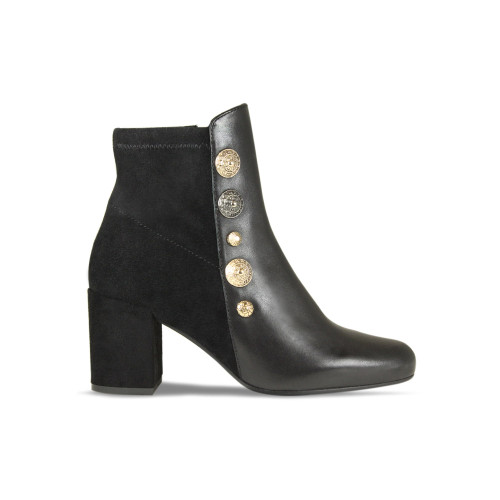Beth: Black Leather / Suede
