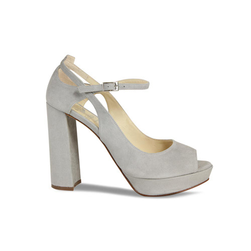 Zaza: Pale Grey Suede