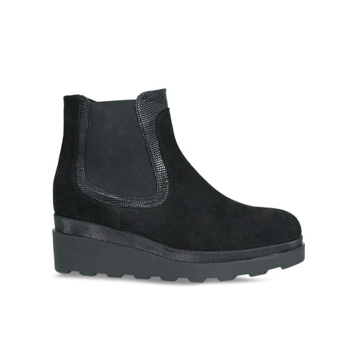Sue Boot: Black Suede