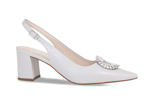 Daisy: Pale Grey Leather