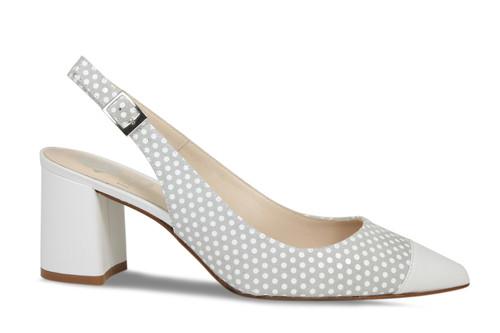 Patsy: Grey & White Dotty