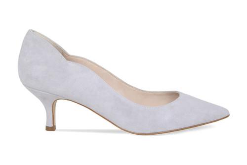 Lynette: Pale Grey Suede
