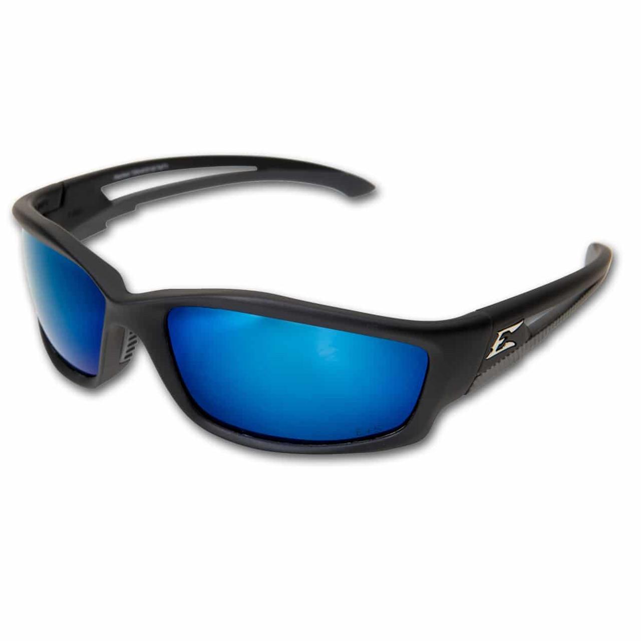 Edge Kazbek - Polarized Aqua Precision Blue Safety Glasses