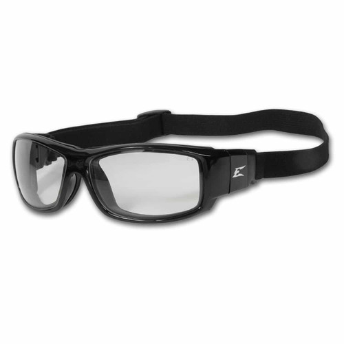The Edge Caraz with adjustable head strap and gasket - Clear with Vapor Shield Safety Glasses