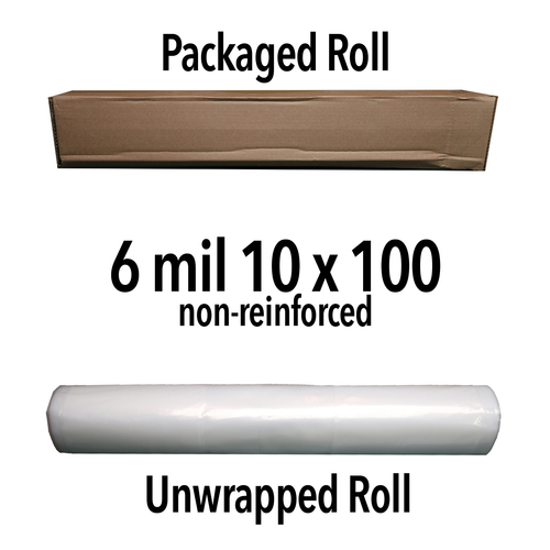 6 Mil Non-Reinforced Crawl Space Liner (translucent) - 10' X 100' Roll