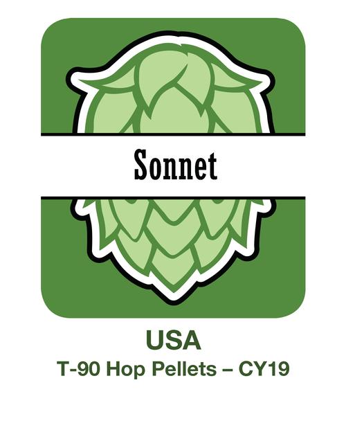 2019 Sonnet Hop Pellets 4x11lb/5kg (44lb/20kg) Box