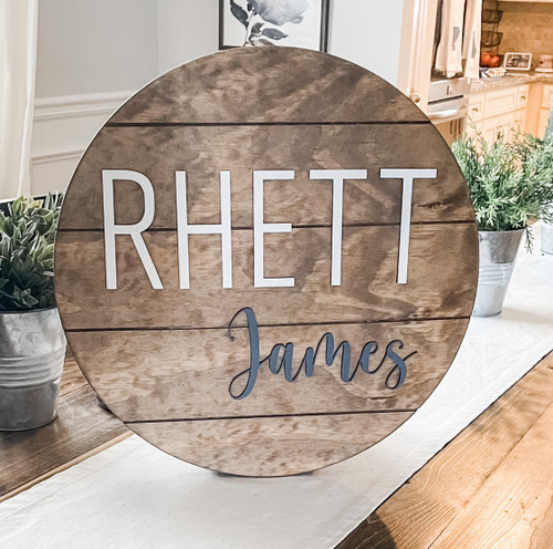 Shiplap Style Nursery Name Sign
