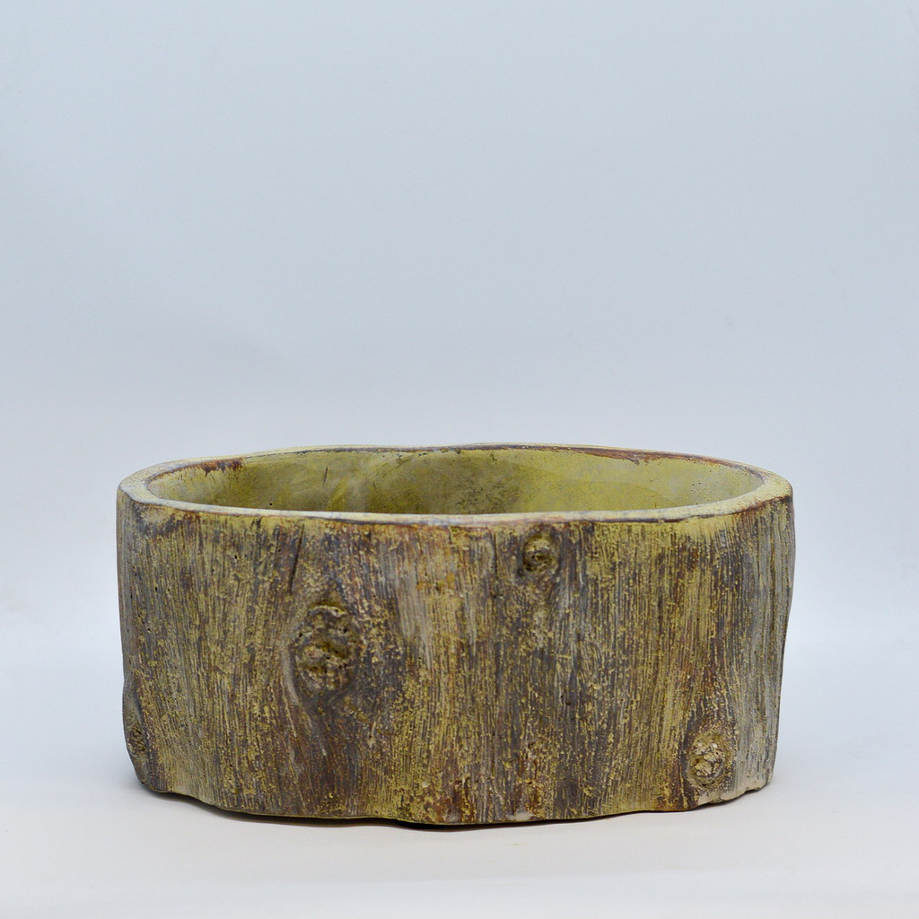 Oval Cement Log Planter