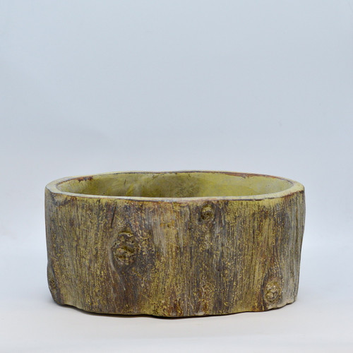 """7"""" Oval Cement Log Planter"""