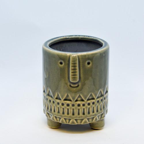 """3"""" Footed Face Pot"""