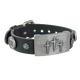Sabona Mission Black Leather Magnetic Wristband