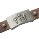 Sabona Mission Brown Leather Magnetic Wristband