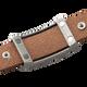 Sabona Spirit Brown Leather Magnetic Wristband