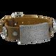 Sabona Sierra Brown Leather Magnetic Wristband