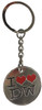 Doctor Who: I LOVE THE DOCTOR (Two Hearts) - UK Imported Metal Keyring Keychain