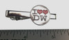 """Doctor Who Tie Clip - I """"Double Heart"""" Love The Doctor"""