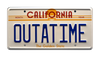 "BACK to the FUTURE - ""OUTATIME"" - Movie Prop Replica Metal Stamped License Plate"