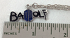 Doctor Who: BAD WOLF Pendant Necklace with chain