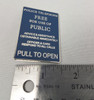 """""""Pull to Open"""" Police Box Signage Enamel Pin"""