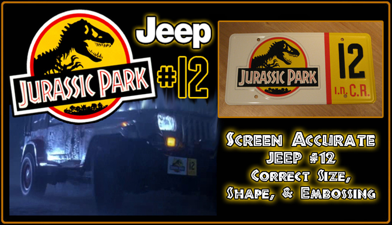 6 X 12 Inches Zhengyu Jurassic Park Metal License Plate