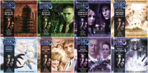 Doctor Who: Complete set of 8 Eighth Doctor Adventures Big Finish Audio CDs - SEASON 1
