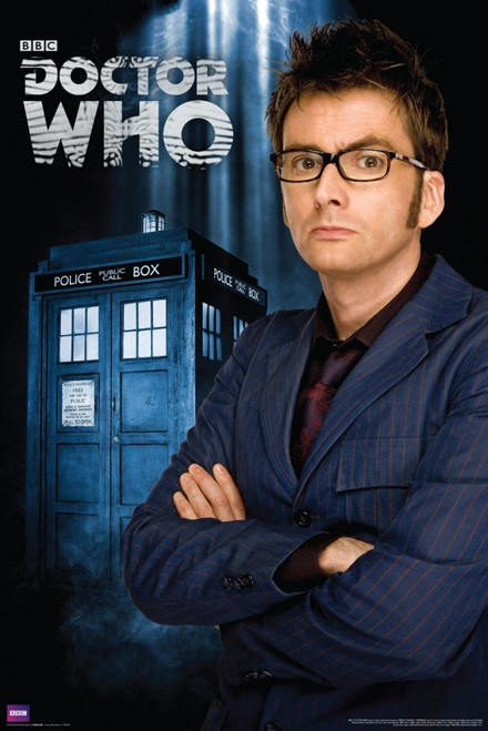 "Doctor Who: 10th Doctor (David Tennant) and TARDIS Exclusive Poster 24"" X 36"""