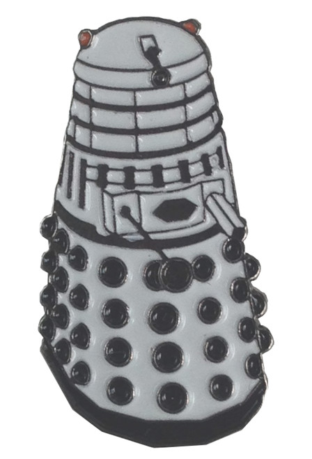 Doctor Who UK Imported Lapel Pin - WHITE DALEK