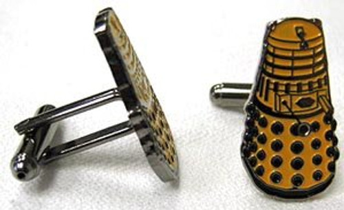 Doctor Who Cufflinks - YELLOW DALEK