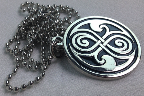 "Doctor Who: Seal of Gallifrey (Rassilon) Pendant Necklace with 24"" chain"