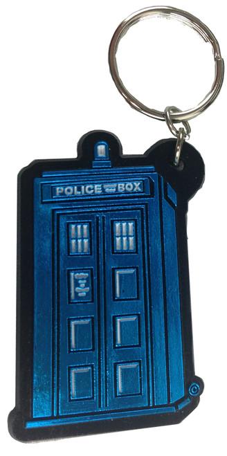 Doctor Who: Vinyl TARDIS Keychain Keyring