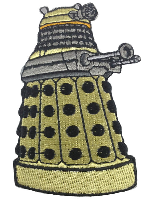 Doctor Who: YELLOW DALEK Iron On Patch