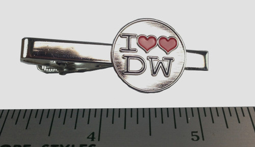 "I ""Double Heart"" Love The Doctor Tie Clip"