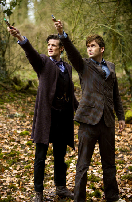 Doctor Who: 17 x 11 Inch Print - 10th and 11th Doctors with Sonics - 50th Anniversary DAY OF THE DOCTOR