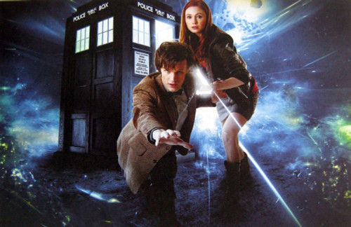 Doctor Who: 17 x 11 Inch Print - The 11th Doctor (Matt Smith)with Amy Pond (Karen Gillan)