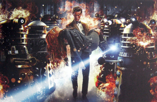 Doctor Who: 17 x 11 Inch Print - 11th Doctor (Matt Smith) and Amy Pond (Karen Gillan) ASYLUM OF THE DALEKS Promotional Photo