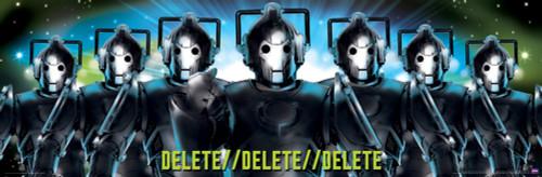 "Doctor Who: CYBERMEN DELETE Slim Style Poster - 36"" X 11.75"""