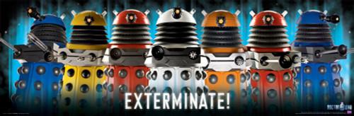 "Doctor Who: PARADIGM DALEKS EXTERMINATE Slim Style Poster - 36"" X 11.75"""
