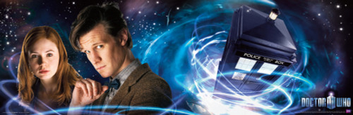 "Doctor Who: The 11th Doctor (Matt Smith) and Amy Pond (Karen Gillan) Slim Style Poster 36"" X 11.75"""
