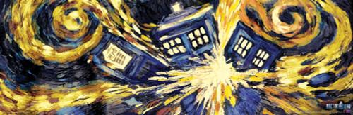 "Doctor Who: VAN GOGH Exploding TARDIS Slim Style Poster - 36"" X 11.75"""