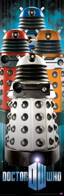 "Doctor Who: PARADIGM DALEKS Slim Style  Door Poster - 11.75"" X 36"""