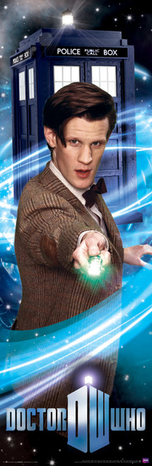 "Doctor Who: The 11th Doctor (Matt Smith) with his Sonic Screwdriver Slim Style Poster - 11.75"" X 36"""