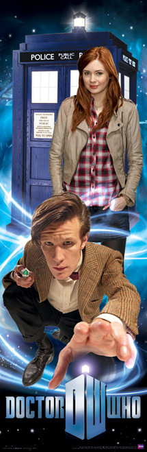 "Doctor Who: 11th Doctor, Amy Pond and the TARDIS Slim Style Poster - 11.75"" X 36"""